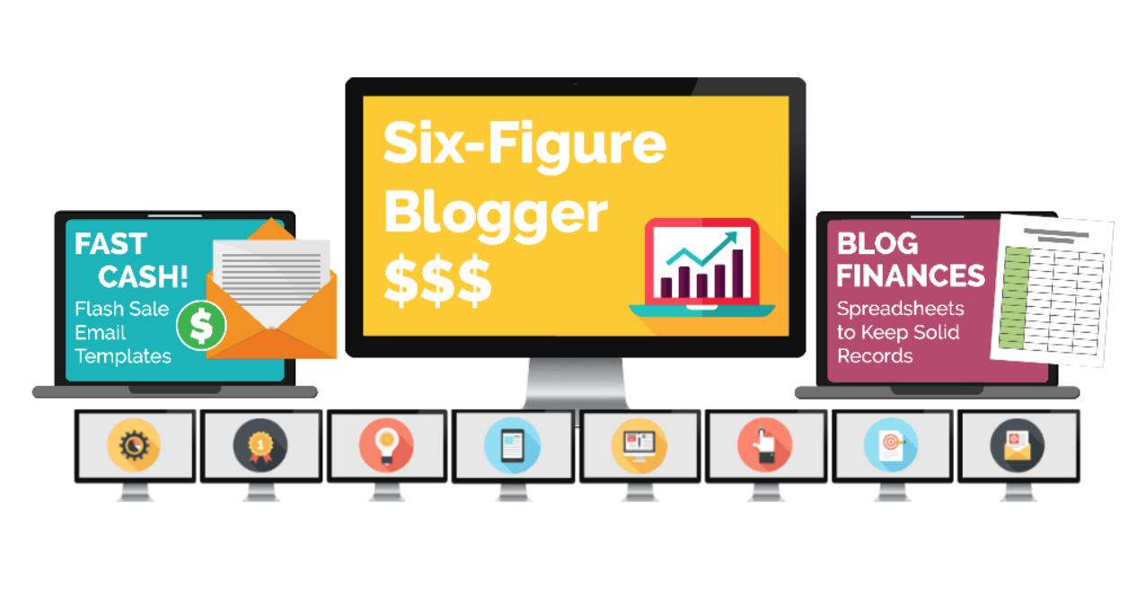 Sechs Figur-Blogger