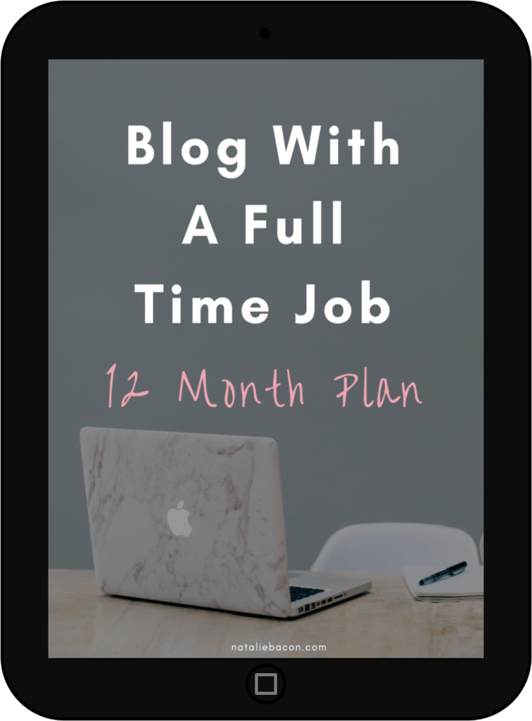 Blog with a full time job 12 month plan